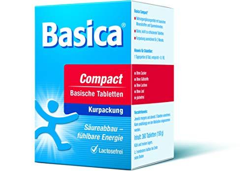 Basica Compact, praktische basische Tabletten für zu Hause und unterwegs, 360 Tabletten