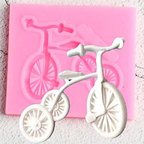 YEZIDE Stampo in Silicone per Biciclette 3D Stampi per dolciumiStampi perCioccolatoStrumenti per Decorare Torte fondenti Stampi perDolci inArgilla