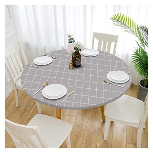 LINMAN Moderna Mesa Redonda Cubierta manteles estiramientos Estilo Moda hogar Decorativo elástico Bodas Fiesta casero Mantel Mantel Apretado Ajuste (Color : 5, tamaño : 120x120cm)