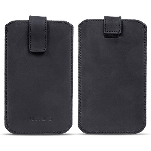 na-commerce Leder Tasche Pull Tab Universal Smartphone Sleeve Hülle Schutzhülle Hülle Cover, Größe:Für 5.2-5.8 Zoll