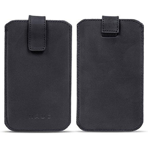 na-commerce Leder Tasche Pull Tab Universal Smartphone Sleeve Hülle Schutzhülle Case Cover, Größe:Für 5.2-5.8 Zoll