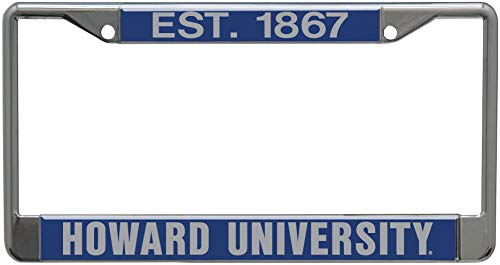 WinCraft Howard University Established 1867 Premium License Plate Frame, 2 Hole, Metal with Inlaid Acrylic