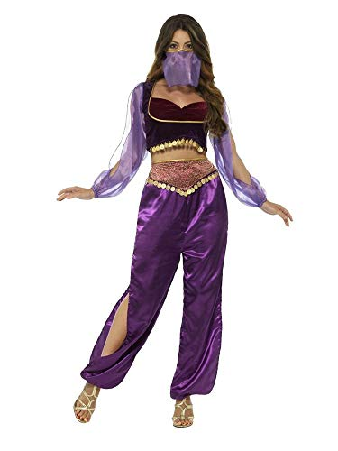 shoperama Arabische Prinzessin Haremsdame Bezaubernde Jeannie 1001 Nacht 3-TLG. Damen Kostüm Araberin Bauchtanz Belly Dance Harem Orient Märchen Jasmin, Größe:S