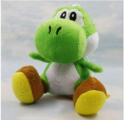 pluche pop Super Mario Bros Yoshi knuffels 15 cm 9 kleuren zitten Yoshi pluche kinderen pluche pop voor cadeau b groen