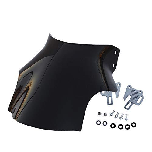 Parabrisas de motocicleta para Suzuki Bandit GSF 600 1200 GS500 GSX1100G VX800 ABS, parabrisas de motocicleta, parabrisas, tornillos, negro, color negro