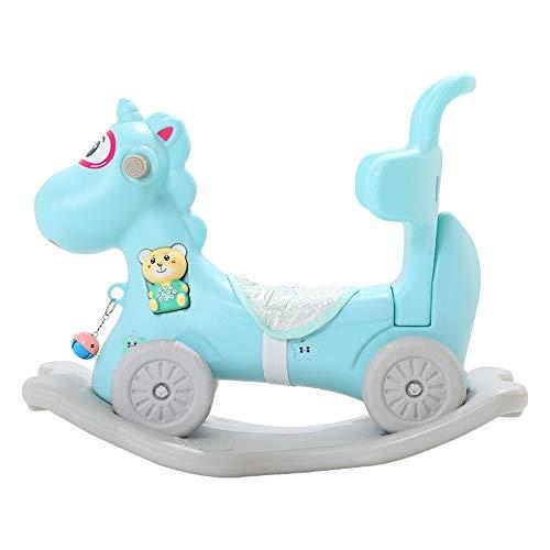 FZJDX Baby Schaukelpferd Indoor Outdoor Spielzeug Kind Schaukelspielzeug Reiten Pferd Trolley Shake Rocker Geburtstagsgeschenk für Baby (Color : Blue)