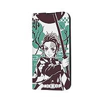 鬼滅の刃 Demon Slayer iPhone12 IPHONE 12 アイフォン12 ケース ケース 手帳型 手帳 財布型 スマホケース 全面保護 2つ折り カード収納 マグネット式 レンズ保護 アニメケース 携帯カバー 携帯電話ケース (04)