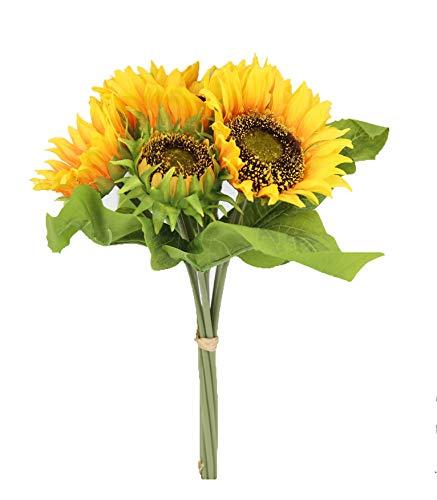 Famibay Kunstblumen Sonnenblume für Zuhause oder als Hochzeitsdekoration 1Pcs Sonnenblume Seidenblume