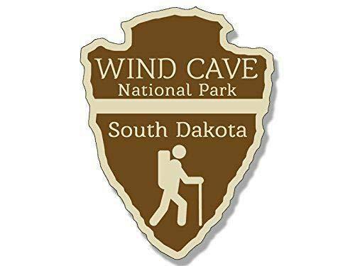 Adhesivo impermeable para coche, diseño de cueva de viento del sur de Dakota del Parque Nacional de Dakota del Sur de 10 cm