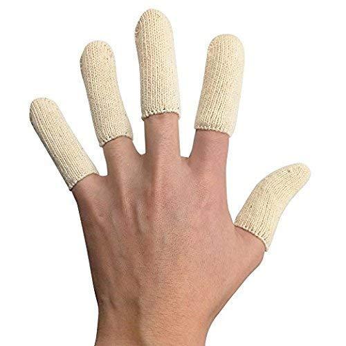 EPRHAY Premium-Baumwoll-Kissen für Finger, Zehen, Daumen und Kinderbett, Fingerschutz, schützt die Fingerkuppen, vor Ekzemen, Haut, Risse, Schwielen, leitet Feuchtigkeit ab, 20 Stück, lang