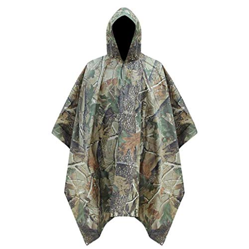 Angoter Poncho Shelter in Rain Camo Color Rain Waterproof Fishing 1 for Camping Outdoor Gear Random Camouflage 3 Rain Coat ym0vOP8Nnw