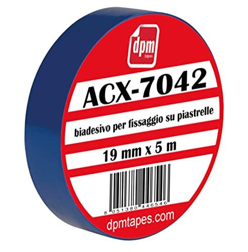 Tesa ACX 7042 - Cinta adhesiva de espuma acrílica de doble cara para fijación permanente sobre azulejos (19 mm x 5 m) (1 unidad)