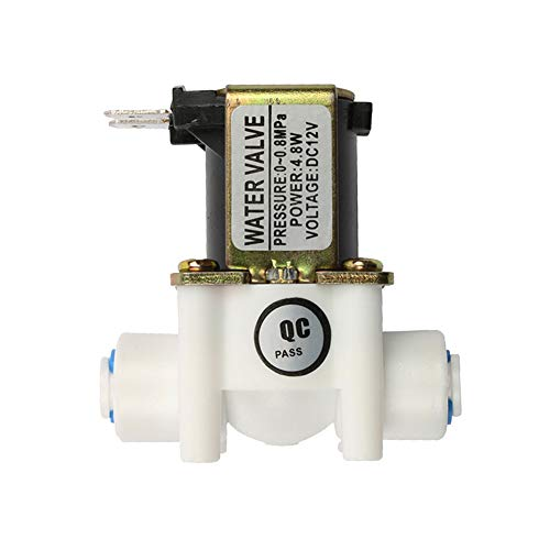 Beduan 12V 1/4' Inlet Water Solenoid Valve Normally Closed for RO Reverse Osmosis Pure System
