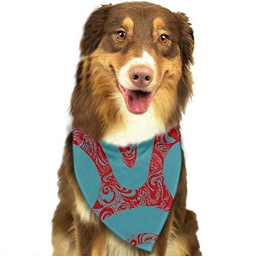 Huyotop Haustier-Halstuch, Mononoke-Maske, für Hunde und Katzen, Dreieck, Kopftuch, Zubehör