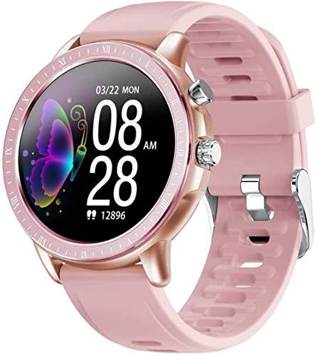TYUI Reloj deportivo inteligente de 1,3 pulgadas, pantalla redonda completa, IP67, resistente al agua, con monitor de frecuencia cardíaca