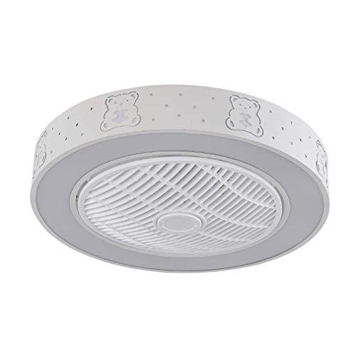 Plafondventilator met verlichting en afstandsbediening, moderne creatieve onzichtbare led-plafondlamp, dimbaar, bijzonder stille ventilatorkroonluchter voor de woonkamer in de kinderkamer