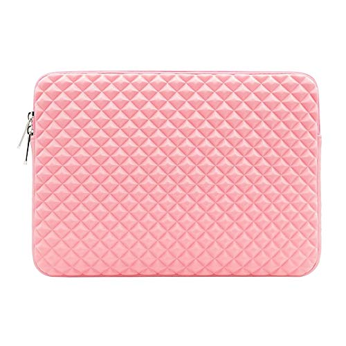 Charque 11/13/14/15/15.6 Inch Laptop Sleeve Multi-Color & Size Choices Case/Water-Resistant Diamond Foam Lycra Cloth Notebook Computer Pocket Tablet Briefcase Carrying Bag/Pouch Skin Cover