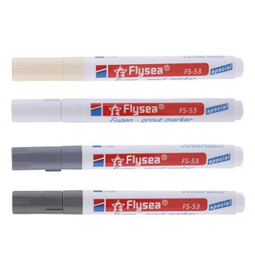 IPOTCH 4Sets liesen Stift für Fliesenmalerei, Reparaturwerkzeug für Badezimmer, Bodenfliesen, Zement, Reparaturstift für Fliesen