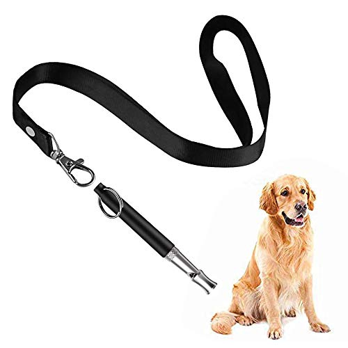 Mumu Sugar Dog Whistle to Stop Barking, Adjustable Pitch Ultrasonic Training Tool Silent Bark Control for Dogs- Pack of 1 PCS Whistles with 1 Free Lanyard Strap