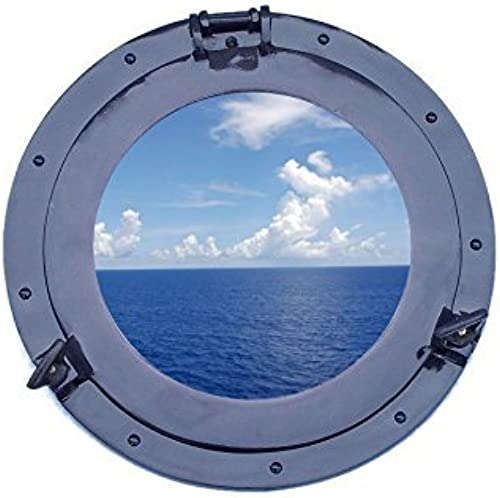 Deluxe Class Dark Blau Porthole Window 15 - Beach Theme - Port Hole Window by Handcrafted Model Ships
