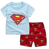 子供の夏のパジャマのセット半袖キッズベビーガールズパジャマの男の子の寝室の赤ちゃんの家庭衣服