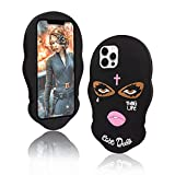 TOLUOHU for iPhone 12 Pro Max Case (2020),Goon Thug Life Big Eyes Woman Face 3D Cute Cartoon Masked Teared Girls Cross Coque Soft Silicone Phone Case Cover (6.7')