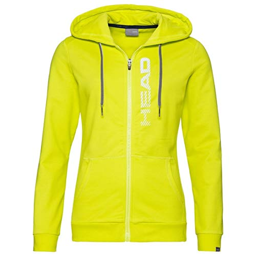 HEAD - Felpa Cappuccio e Zip Donna Club Greta - S, Giallo