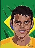 Thiago Silva Poster on Silk/Silk Prints/Wallpaper/Wall
