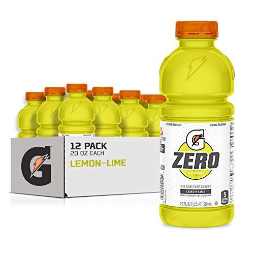 Gatorade Zero Sugar Thirst Quencher, Lemon-Lime, 20 Fl Oz (Pack of 12)