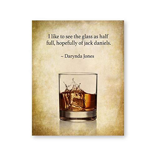 Whisky print Bar Wall Art Decor cadeau voor hem Whiskey Quotes Vintage Posters Art Canvas schilderij muur foto's Pub decoraties roze 40x50cm geen frame
