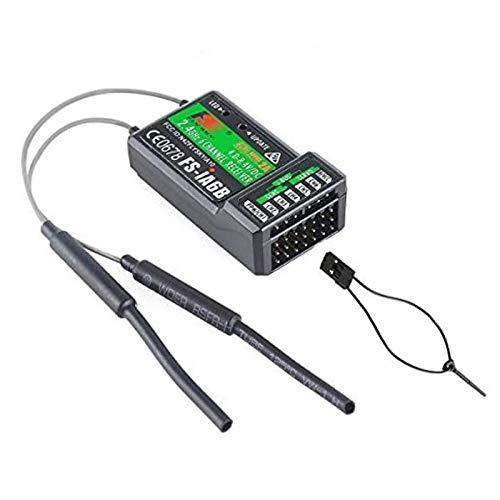 Tamlltide Salida PPM Flysky FS-iA6B 2.4GHz 6CH con iBus Transmisor Flysky i4 i6 i10 FS-GT2E FS-GT2G Compatible con iBus