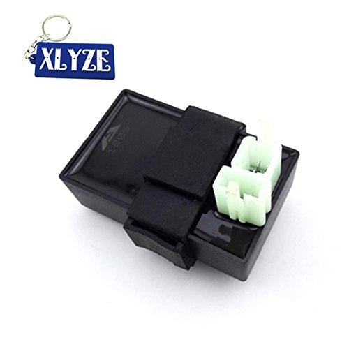 xlyze DC CDI Ignition Box 6 broches pour Scooter cyclomoteur ATV Quads Go Karts 50 cc 70 cc 90 cc 110 cc 125 cc 140 cc 150 cc 200 cc 250 cc