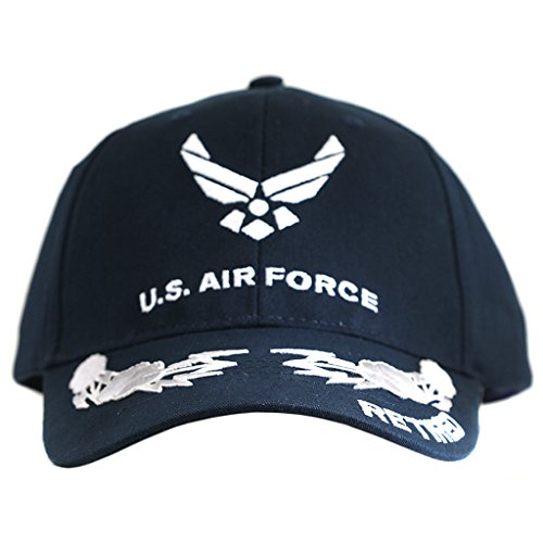 US Air Force Retired Cap with Scrambled Eggs Military Collectible Hats Men Women