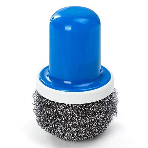 Cepillo de limpieza Cocina Bola de alambre de acero inoxidable con asa Cepillo limpio para plato plato Pan Pan Clean Metal Scrubber Ball Herramientas de limpieza Fuerte detergencia ( Color : B