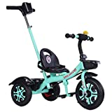MYANG Steer y pasear Trike, Verde al Aire Libre del niño del Triciclo para niños de 2-5 años, Bicicleta de Equilibrio del niño