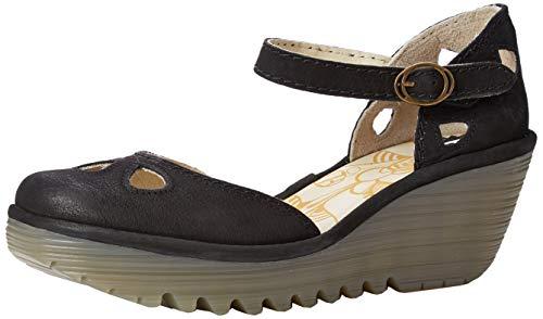 Fly London Yuna, Zapatos de tacón con Punta Cerrada Mujer, Negro (Black...