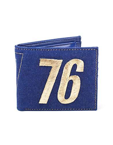 Fallout 76 Wallet Vault 76 Logo Vintage Denim Official Gamer Blue Bifold