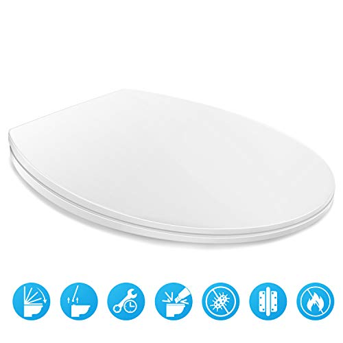 HONBOO Toilet Seat with Cover, Slow-Close, Quick-Release...