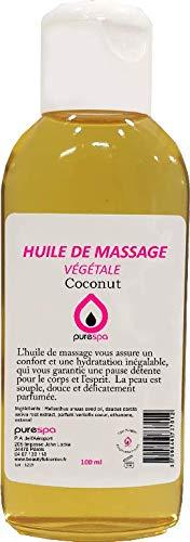 Huile de massage Végétale parfumée COCO - 100ml- Purespa By Purenail, Livraison Gratuite en France