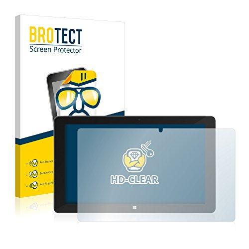 BROTECT Schutzfolie kompatibel mit TrekStor SurfTab Duo W2 (2 Stück) klare Bildschirmschutz-Folie