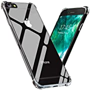 iPhone 6 Plus/iPhone 6S Plus Case Transparent Soft TPU Crystal Clear Slim Flexible Drop Protection Cover, Wireless Charging Compatible for Apple iPhone 6 Plus/iPhone 6S Plus