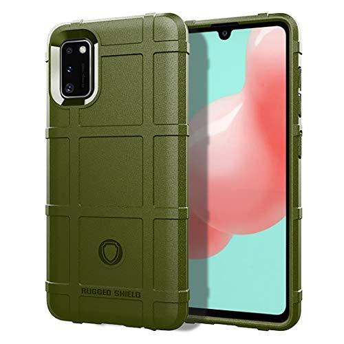 LENASH For Galaxy A41 Cobertura Completa a Prueba de Golpes Caso de TPU (Negro) La Caja del teléfono Funda para Phone (Color : Army Green)