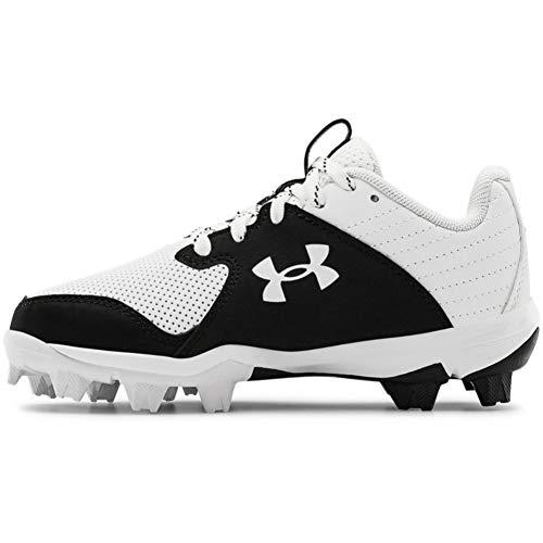 Under Armour boys Leadoff Low Rm Jr. Baseball Shoe, White/Black, 3.5 Big Kid US