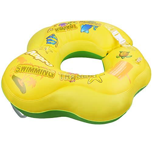 Anpro Flotador Bebé para Ayudar de natación,Flotador de axila para Bebé de 10 a 30 Meses,Flotador Inflable de Piscina