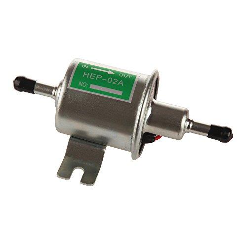 Larbi HEP-02A High Pressure (4-7 PSI)12V Heavy Duty Gas Diesel Inline Electric Fuel Pump Metal Solid Petro Gasoline or Diesel Engine Suitable Car Truck,Boat,Moto, Carburetor, Lawn Mower
