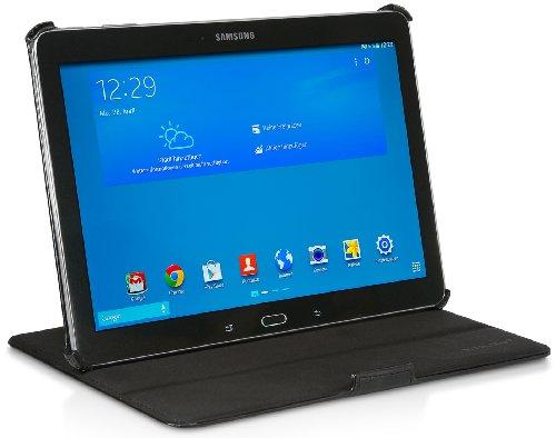 StilGut UltraSlim Case V2, Tasche mit Stand- und Präsentationsfunktion für Samsung Galaxy TabPRO 10.1, schwarz Vintage