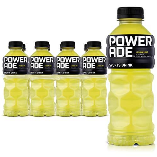 POWERADE, Electrolyte Enhanced Sports Drinks w/ vitamins, Lemon Lime, 20 fl oz, 8 Pack