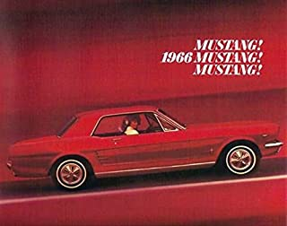 1966 MUSTANG DEALERS SALES BROCHURE - ADVERTISEMENT - Includes Hardtop, Convertribles, Fastback 2+2, Mustang GT