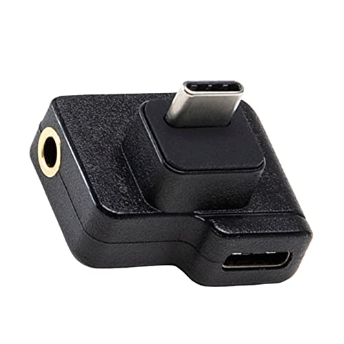prasku Adaptador de Micrófono Adaptador de Micrófono de 3,5 Mm/USB-C para Cámara de Acción Osmo Enchufe TRS