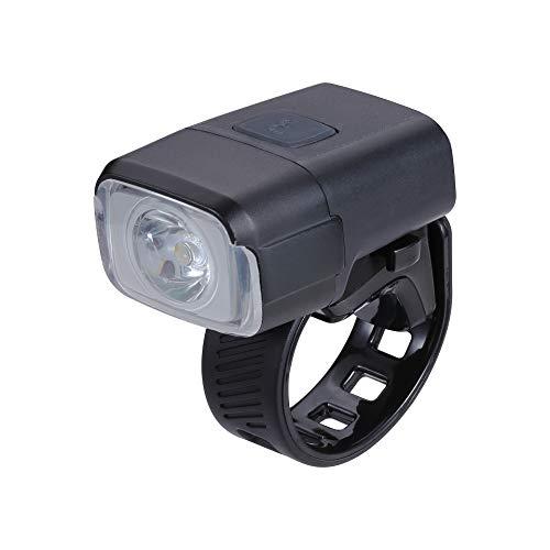 BBB Fahrradlicht NanoStrike USB wiederaufladbarer Frontscheinwerfer | MTB Urban Road 400 Lumen BLS-130, Schwarz